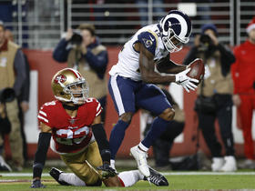 Cooks high-points Goff's cross-body throw over 6-foot-3 CB for TD