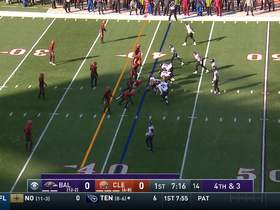 Browns D forces early turnover on downs