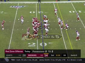 Redskins unveil WILD double reverse pass to Chris Thompson for first down