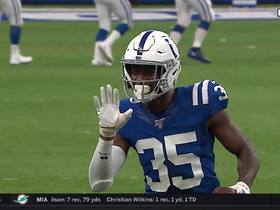 Pierre Desir tracks down Will Grier's overthrown deep ball for Colts' second INT