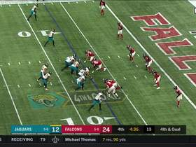 Minshew's fourth-and-goal laser goes through Chark's hands incomplete