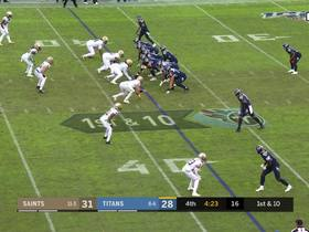 Saints get late turnover after Titans' fumble