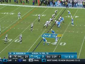 Austin Ekeler drags across the middle for 17-yard catch and run