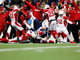 Cards fall on fumble after David Moore coughs it up