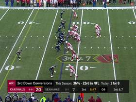 Seahawks swarm Brett Hundley for big loss on third-down sack