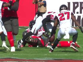 First play fumble: Deion Jones scoops up Buccaneers loose ball