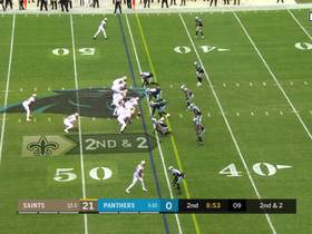 Jared Cook uses double move to haul 23-yard pass from Brees up the seam