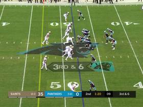 Christian McCaffrey gets open for 28-yard catch and run