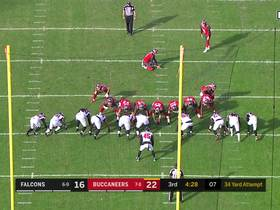 Buccaneers miss third field goal of game vs. Falcons