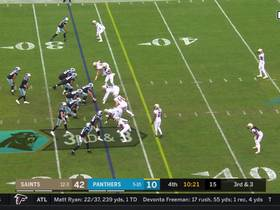 Kyle Allen keeps play alive to create a 32-yard catch and run for Reggie Bonnafon