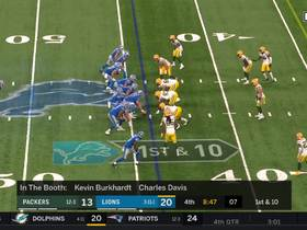 Packers' D surround Blough on BIG sack for loss