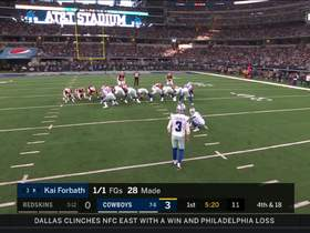Kai Forbath drills 47-yard FG attempt