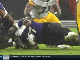 Judon holds back Hodges so teammates can recover his strip-sack
