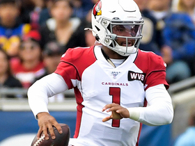 Kyler Murray fires a 23-yard seam route to Larry Fitzgerald