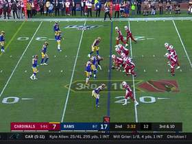 Kyler Murray extends play to zip a 16-yard rocket to Christian Kirk on third down