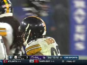 T.J. Watt punches ball from Gus Edwards for Steelers turnover