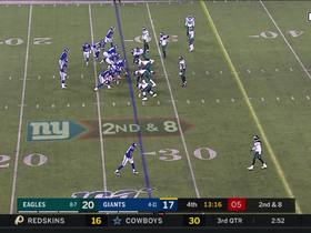 Eagles turns Giants' mishandled snap into first-and-goal from 2-yard line
