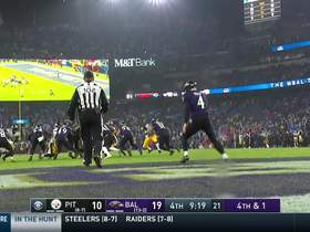 Ravens successfully roll the dice on fourth down from their own 11-yard line