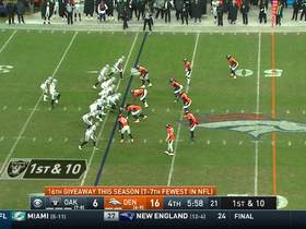 Von Miller ducks under Donald Penn to sack Carr