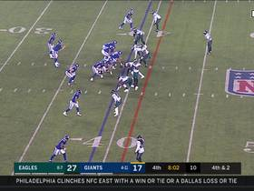 Cre'Von LeBlanc makes CLUTCH tackle to force turnover on downs