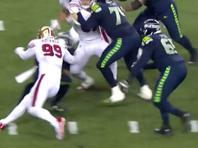 DeForest Buckner drops Russell Wilson for massive loss on third-down sack
